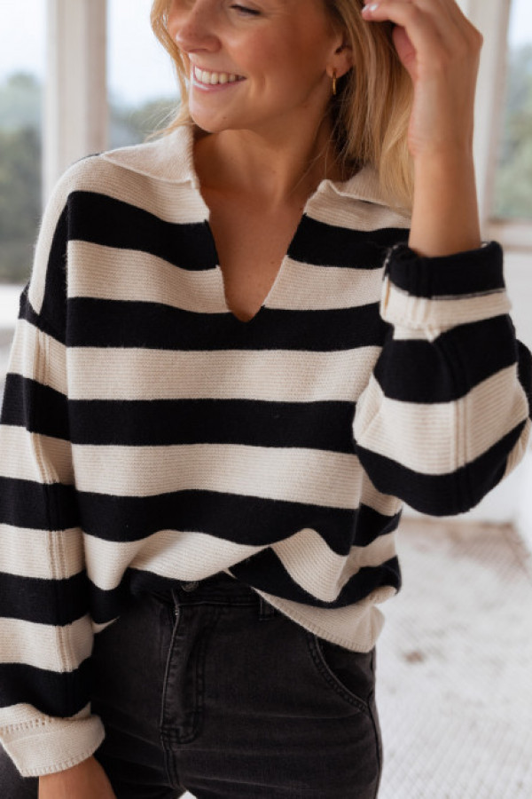 Sweter SALLY Black and White