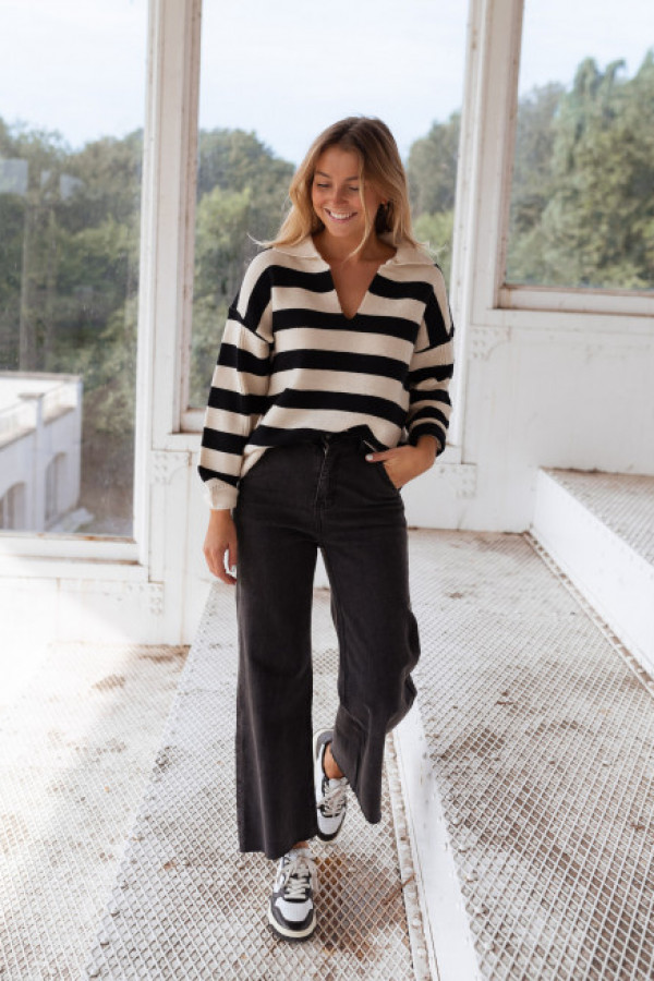 Sweter SALLY Black and White 1