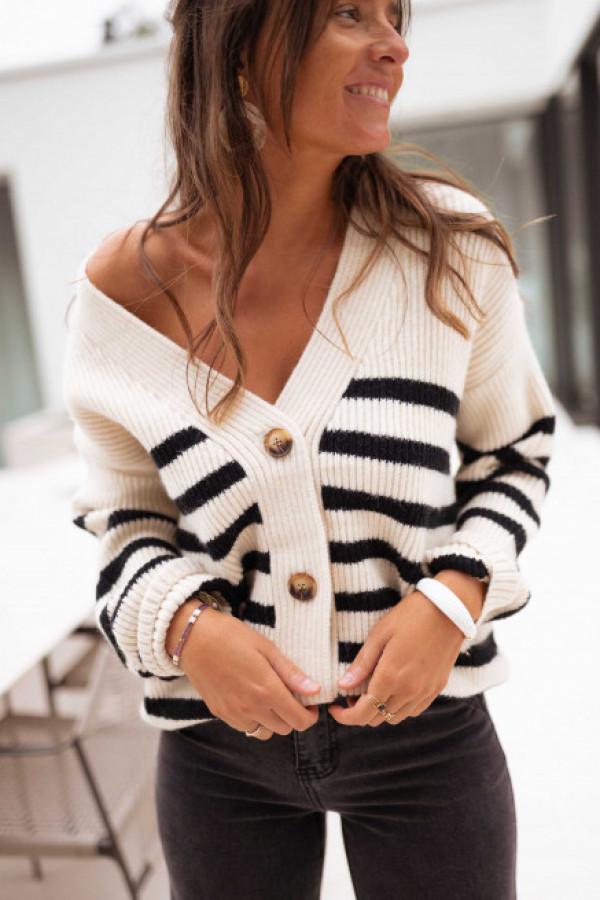 Sweter DAFNE Black and white