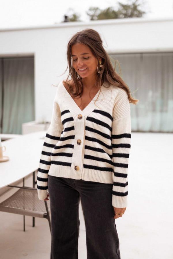 Sweter DAFNE Black and white 1