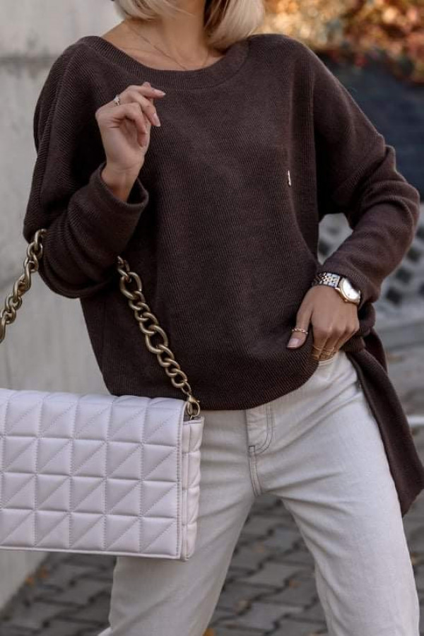 Sweter ROSSI Chocolate